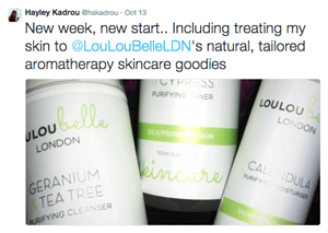 Hayley Kadrou tweets about LouLouBelle London